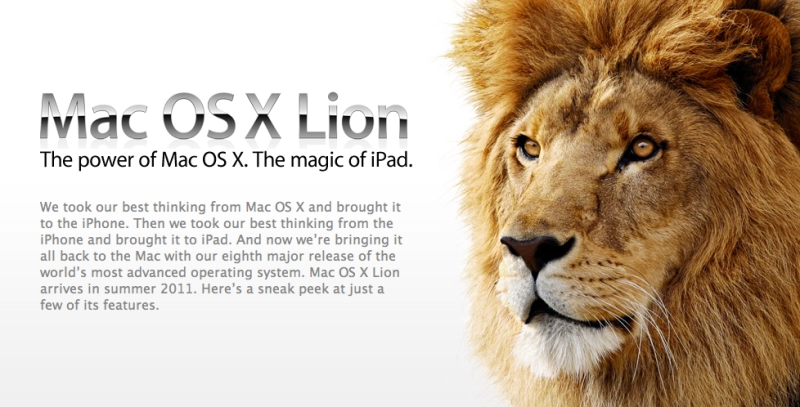 Apple OS X 10.7 Lion Preview