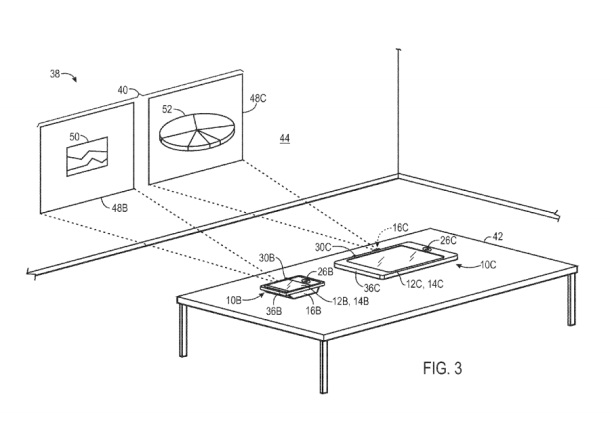 Apple Patent Filing Details Devices with Linked Projectors