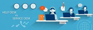 helpdesk vs servicedesk