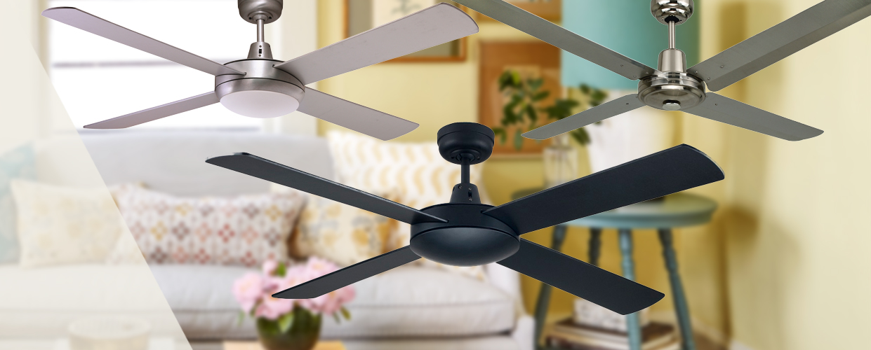 BREEZE and BRIGHT With Ceiling Fan and Light duo